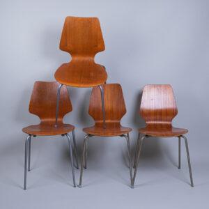 Tanskalaiset  vintage ruokapöydän tuolit