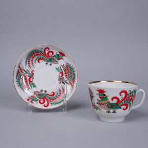 Teekuppipari  Kaksi kukkoa, Lomonosov